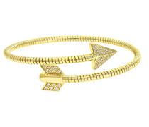 Damen-Armreif vergoldet Silber Gelb