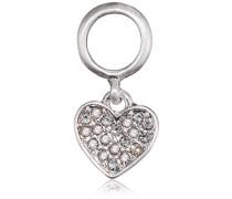 Anhänger Charming Versilbert Kristall Transparent Herzschliff - 471616010