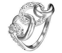 Ring Lancette 925 Silber Zirkonia Weiß Brillantschliff