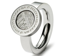 Damen-Ring Edelstahl antiallergen Meteorit 5 mm