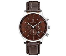 Herren Analog Quarz Uhr mit Leder Armband 213C144
