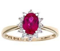 Damen-Ring Gelbgold Piqué I (P1) Rubin