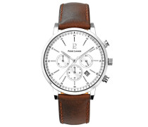 Herren Analog Quarz Uhr mit Leder Armband 206G104