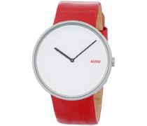 Herren-Armbanduhr Analog Quarz Leder AL13002