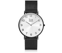 Männer Analog Quarz Uhr mit Edelstahl Armband 012699