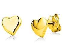 Ohrringe Kinder Mädchen Gelbgold 18 Karat / 750 Gold Ohrstecker mit Herz