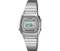 Damen Digital mit Edelstahl Armbanduhr LA670WA 7D