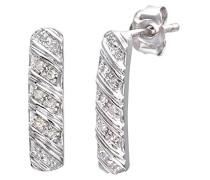 Ohrhänger 9 Karat 375 Weißgold Diamant 0