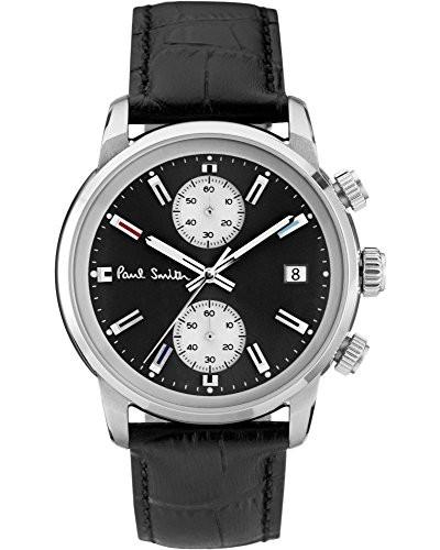 Chronograph Quarz Uhr mit Leder Armband P10031