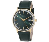 Analog Quarz Uhr mit Leder Armband 11100289