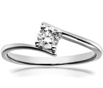Damen-Ring 18 K Weißgold Diamant 0,25 ct