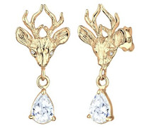 Ohrstecker 925 Sterling Silber Kristall Zirkonia gold 0305891314