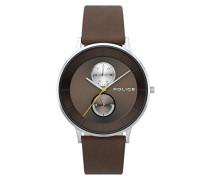 Multi Zifferblatt Quarz Uhr mit Leder Armband PL.15402JS/12