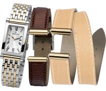 Armbanduhr Antares austauschbare Women'Armbanduhr Analog Edelstahl zweifarbig COF17448/BT01MB Armband