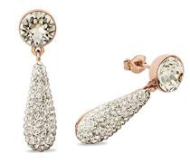 Ohrhänger Tropfen rosévergoldet veredelt mit Swarovski Kristallen 33 mm