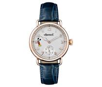 Multi Zifferblatt Quarz Uhr mit Leder Armband ID00103
