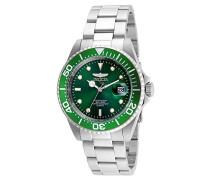 24947 Pro Diver Uhr Edelstahl Quarz grünen Zifferblat