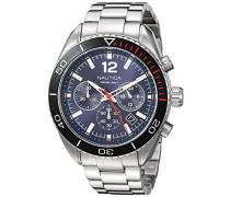 Analog Quarz Uhr mit Edelstahl Armband NAPKBN004