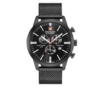 Chronograph Quarz Uhr mit Edelstahl Armband 06-3308.13.007