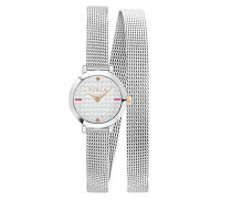 Analog Quarz Uhr mit Edelstahl Armband R4253107502