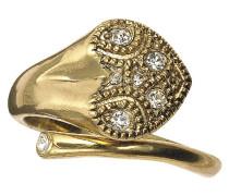 Jewelry Fingerring aus der Serie Darling heart vergoldet weiß Verstellbar 1.8 cm 121242004