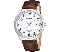 Uhren Armbanduhr XL Klassik Analog Quarz Leder PS9055X1