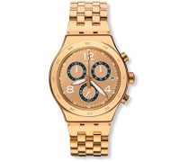 Erwachsene Chronograph Quarz Uhr mit Edelstahl Armband YVG403G