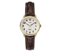 Damen-Armbanduhr Easy Reader Braun Leder T20071