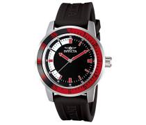 12845 Specialty Uhr Edelstahl Quarz schwarzen Zifferblat