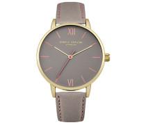 Damen Analog Quarz Uhr mit Leder Armband DD029EG