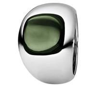 Damen-Ring Edelstahl Quarz grün