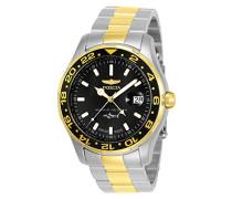 25825 Pro Diver Uhr Edelstahl Quarz schwarzen Zifferblat