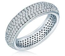 Damen-Ring 925 Silber rhodiniert Zirkonia weiß