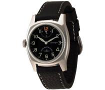 Armbanduhr XL Retro Carré Analog Handaufzug Leder 6164-12-a15