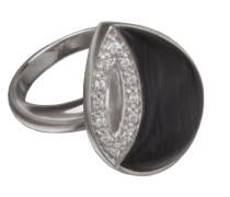 Ring Black Cateye 925 Sterlingsilver mit Zirkonia