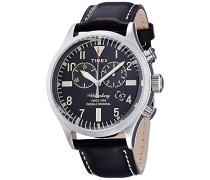 Chronograph Quarz Uhr mit Leder Armband TW2P64900