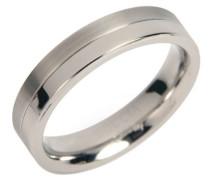 Damen-Ring teilpoliert Titan GR.60 0129-0160