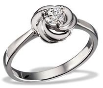 Ring White Rosè 925 Silber rhodiniert Zirkonia weiß Brillantschliff