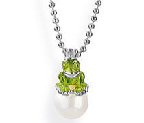 Anhänger froggy 925 Silber Perle Muschelkernperle Weiß - LD MN 38