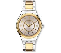 Digital Automatik Uhr mit Edelstahl Armband YIS410G