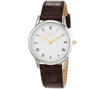 Damen Analog Quarz Uhr mit Leder Armband 12111181