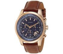 Armbanduhr XL Chronograph Quarz Leder W0500G1