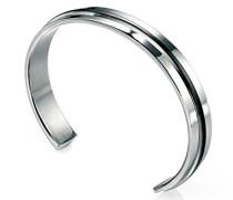 Armband Edelstahl schwarz B3393 Armreifen aus Edelstahl mit schwarzem PGA-beschichtetem Streifen