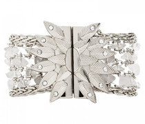 Damen-Manschetten Armbänder Versilbert E18MMAGNSI