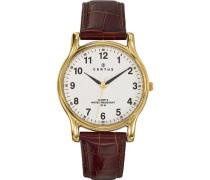 Herren-Armbanduhr Analog Quarz Leder 611231