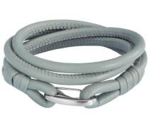 Unisex-Armband Edelstahl Leder 42 cm - 609070222