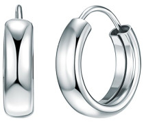 Damen-Creolen 925 Silber rhodiniert - 60837001