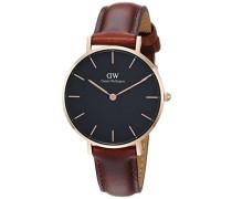 Analog Quarz Smart Watch Armbanduhr mit Leder Armband DW00100169