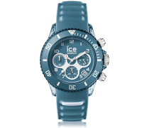ICE aqua Bluestone - Blaue Herrenuhr mit Silikonarmband - Chrono - 001462 (Medium)