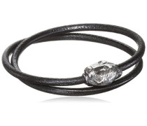 Armband/Wickelarmband Schwarz - 40 cm